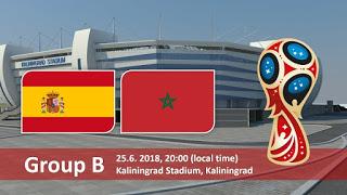 كأس العالم 2018 روسيا 2018 مباريات اليوم أهداف مباراة المغرب و إسبانيا في كأس العالم 2018