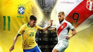 بث مبارة البرازيل و بيرو نهائي